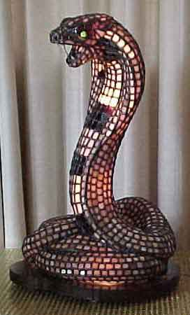 Stained Glass Snake Lamp